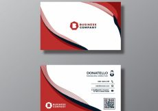 Free vector Red and white business card #16845