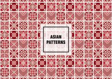Free vector Red asian pattern #17331