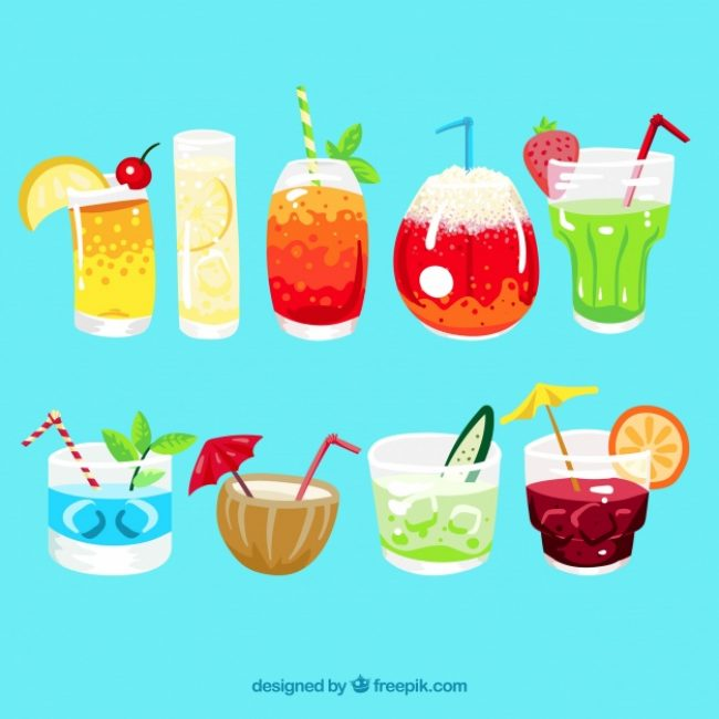 Free vector Refreshment drinks pack #18196