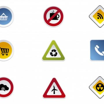 Free vector Road signs icon collection #16410