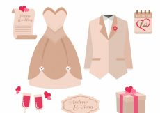 Free vector Selection of decorative wedding items with color details #13113