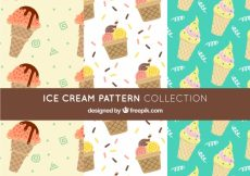 Free vector Set of decorative patterns with ice cream cones #14637
