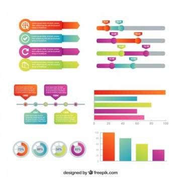 Free vector Set of infographic elements with great colors #14991