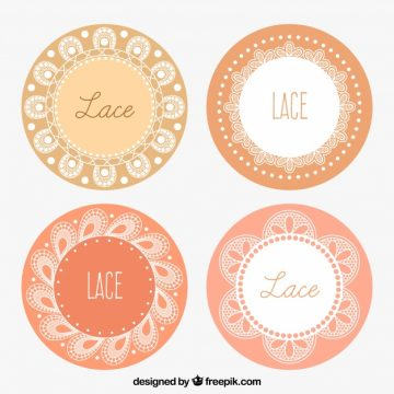 Free vector Set of lace decorative frames #18855