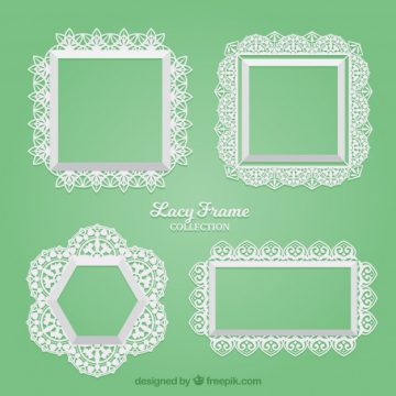 Free vector Set of lace decorative frames #18847