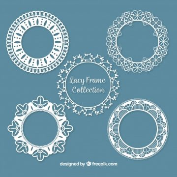 Free vector Set of lace decorative frames #18861