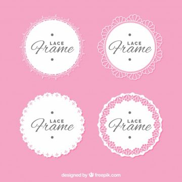 Free vector Set of lace frames #18803
