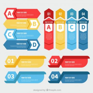 Free vector Set with variety of infographic banners #14981