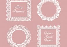 Free vector Several lace frames #18797