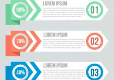 Free vector Several modern infographic banners #14211