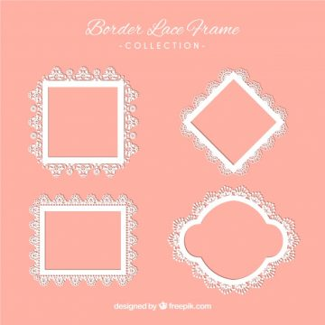 Free vector Several ornamental lace frames #18813