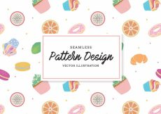 Free vector Snack pattern background #18952