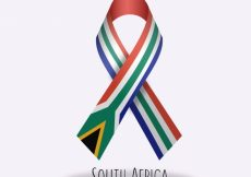 Free vector South africa flag ribbon design #13982