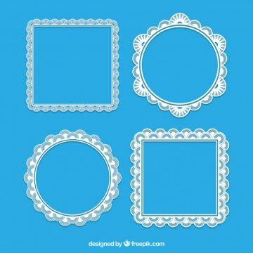 Free vector Square and round lace frames #18835