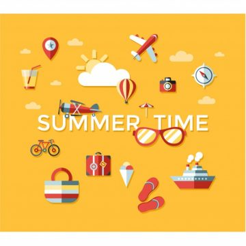 Free vector Summer time elements background #18252