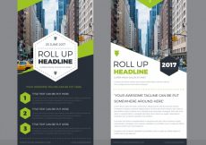 Free vector Template of great roll up with green forms #13842
