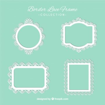 Free vector Types of lace ornamental frames #18809