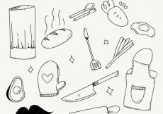 Free vector Variety of great hand-drawn chef items #14461