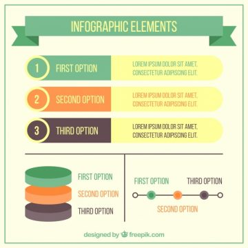 Free vector Variety of useful infographic elements #14933