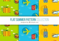 Free vector Various travel patterns in flat design #18437