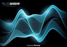 Free vector Vector Abstract Blue Wave Background #16200
