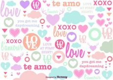 Free vector Cute Love Background #13951