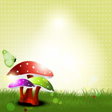 Free vector Vector landscape with mushrooms #18974