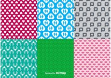 Free vector Valentine Backgrounds Patterns #14290