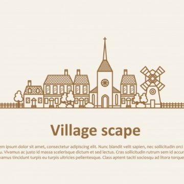 Free vector Village landscape template #18782