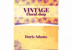 Free vector Vintage watercolor card and flower sketches #16105