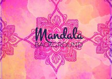 Free vector Watercolor background with mandalas #13213