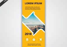 Free vector Yello vertical banner #17292