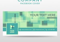 Free vector Abstract facebook cover #19705