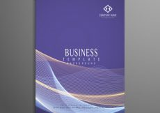 Free vector Abstract wavy business brochure template #20291