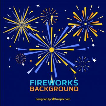 Free vector Background of fireworks in flat design #20379