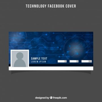 Free vector Blue facebook cover with circuit #20179