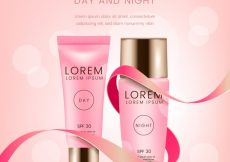 Free vector Bokeh background with beauty products #21452