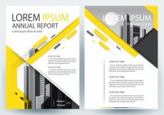 Free vector Business brochure template with Yellow Geometric shapes #20561