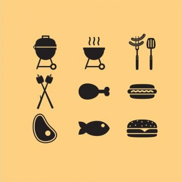 Free vector Camp Food Vector Icons #20348