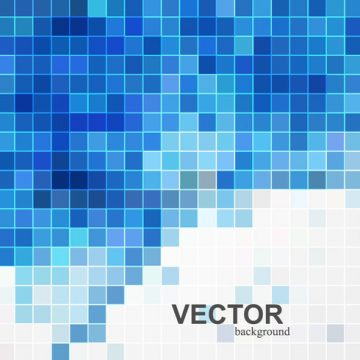 Free vector Card With Blue Mosaic Titles #20496