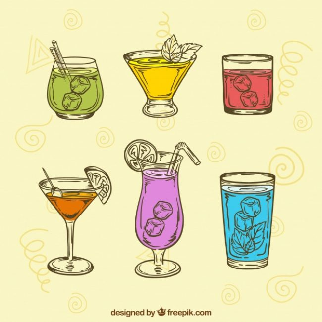 Free vector Collection of hand drawn drink #20335