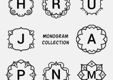 Free vector Collection of hand drawn monogram  #19990