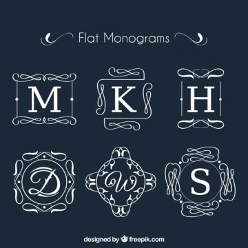 Free vector Collection of monogram in flat design #19978