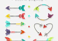 Free vector Collection of nice decorative arrow stickers #23294