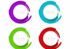 Free vector Colorful circular design elements with space text #20225