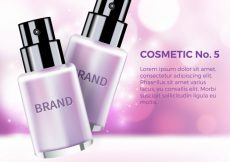 Free vector Defocused background with cosmetic products #21460