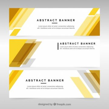 Free vector Elegant and modern business banners #19125