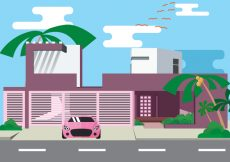 Free vector Exotic Palm Fancy House Vector #20796