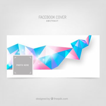 Free vector Facebook cover with geometric shapes #20193