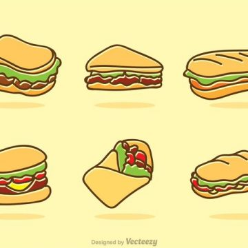 Free vector Fast Food Icons Vector #20322
